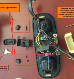 sunroof switch troubleshooting and part request disassembled domelight assembly png [ 1126 x 886 Pixel ]