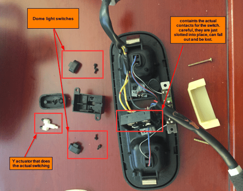small resolution of  sunroof switch troubleshooting and part request disassembled domelight assembly png