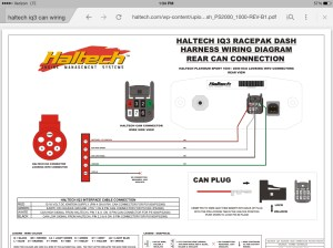 Wiring Racepak IQ3 can connector  RX7Club  Mazda RX7