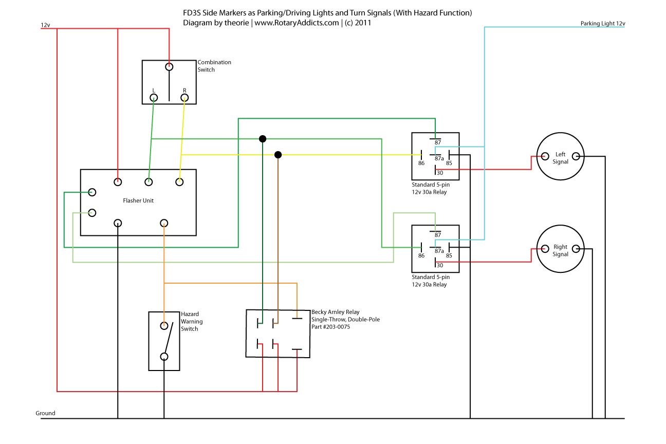 hazard and turn signal switch wiring diagram