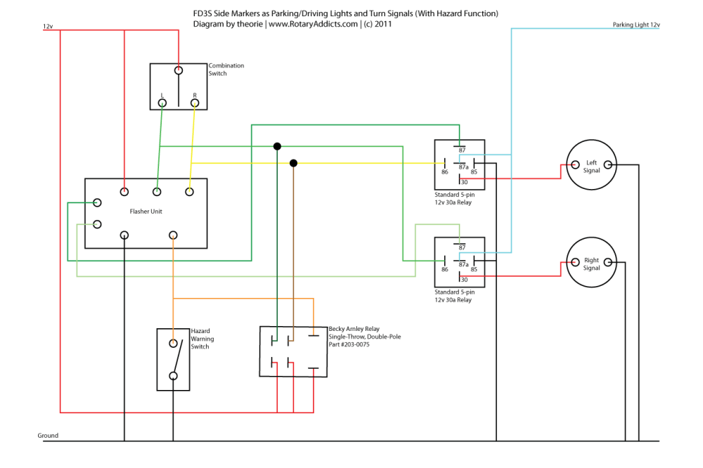 medium resolution of wiring diagram for marker lights wiring diagram inside turn signal side marker lights wiring diagram