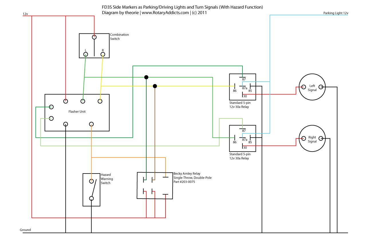 hight resolution of wiring diagram for marker lights wiring diagram inside turn signal side marker lights wiring diagram