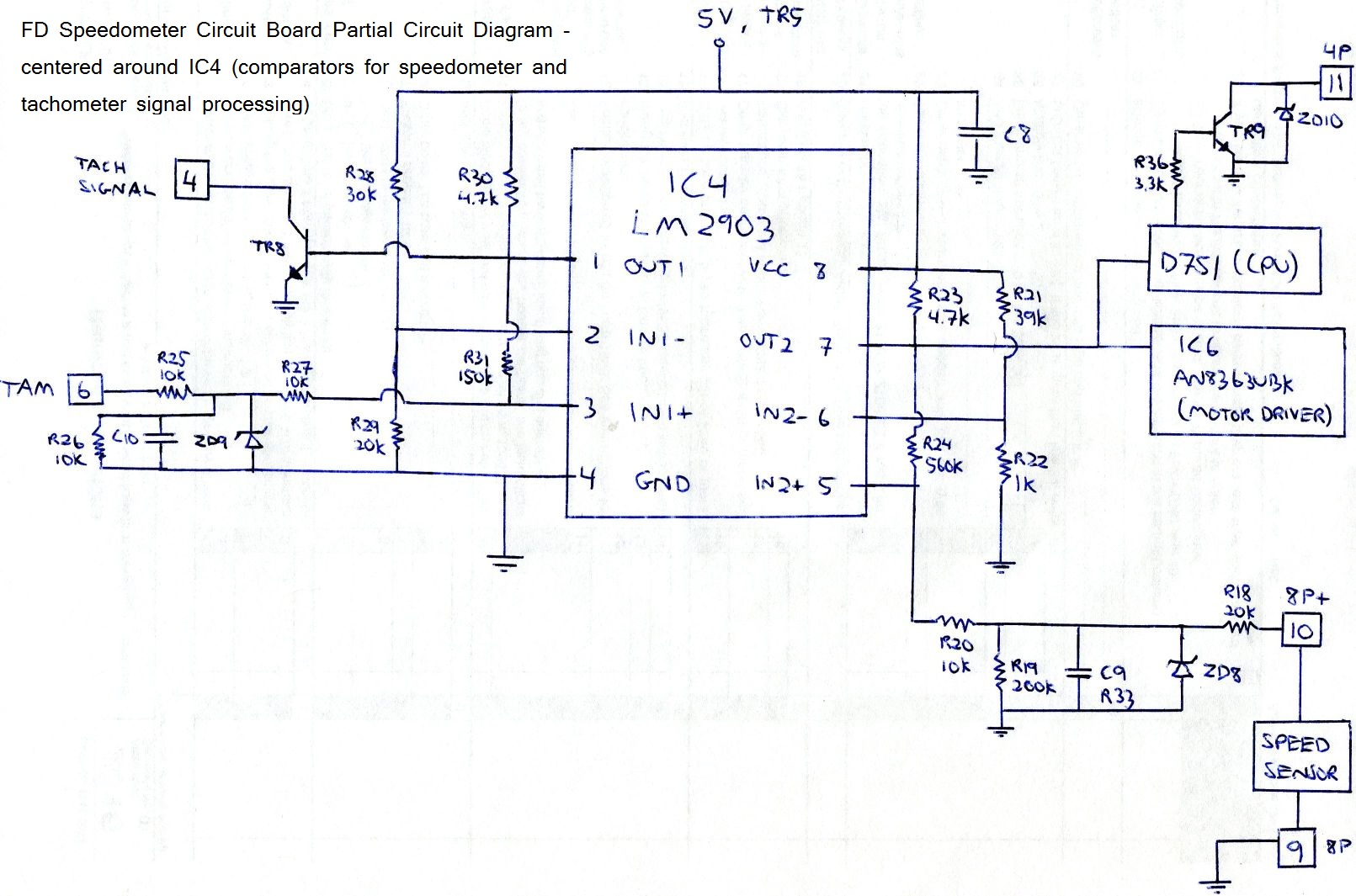 hight resolution of extremely simple fd tach odometer repair fd speedo board ic4