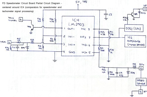 small resolution of extremely simple fd tach odometer repair fd speedo board ic4