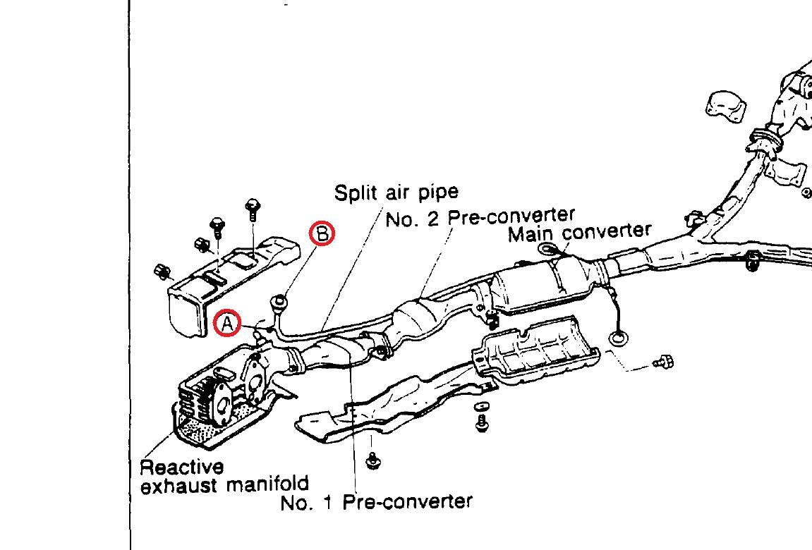 Exhaust Air Pump And Split Air Pipe