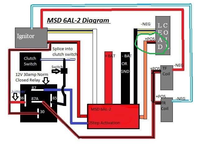 Msd 6al 2 Install On Leading Side Only