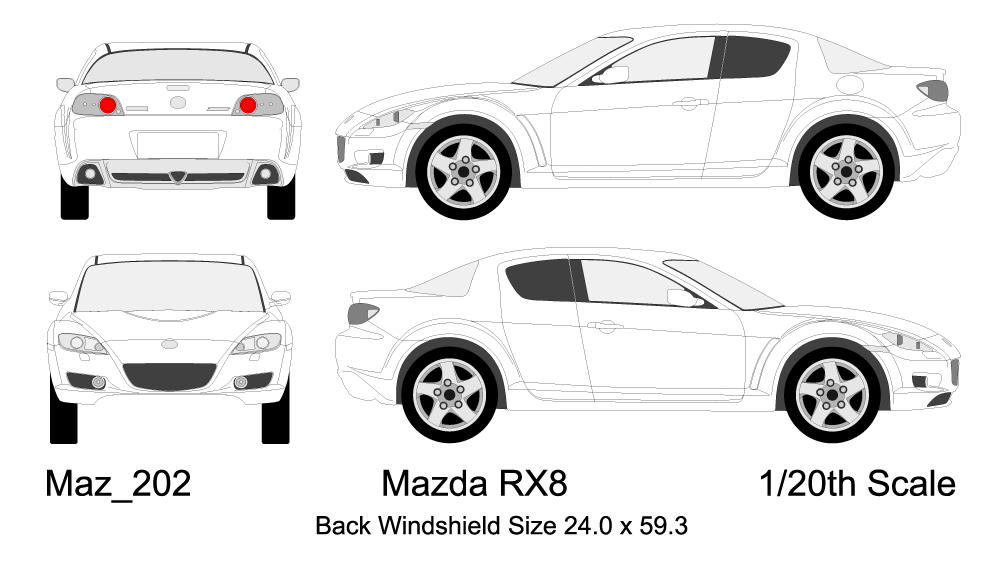 Useful: a scale drawing template of the 04-08 RX-8