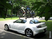 White with the Yakima Raptor Roof Rack - RX8Club.com