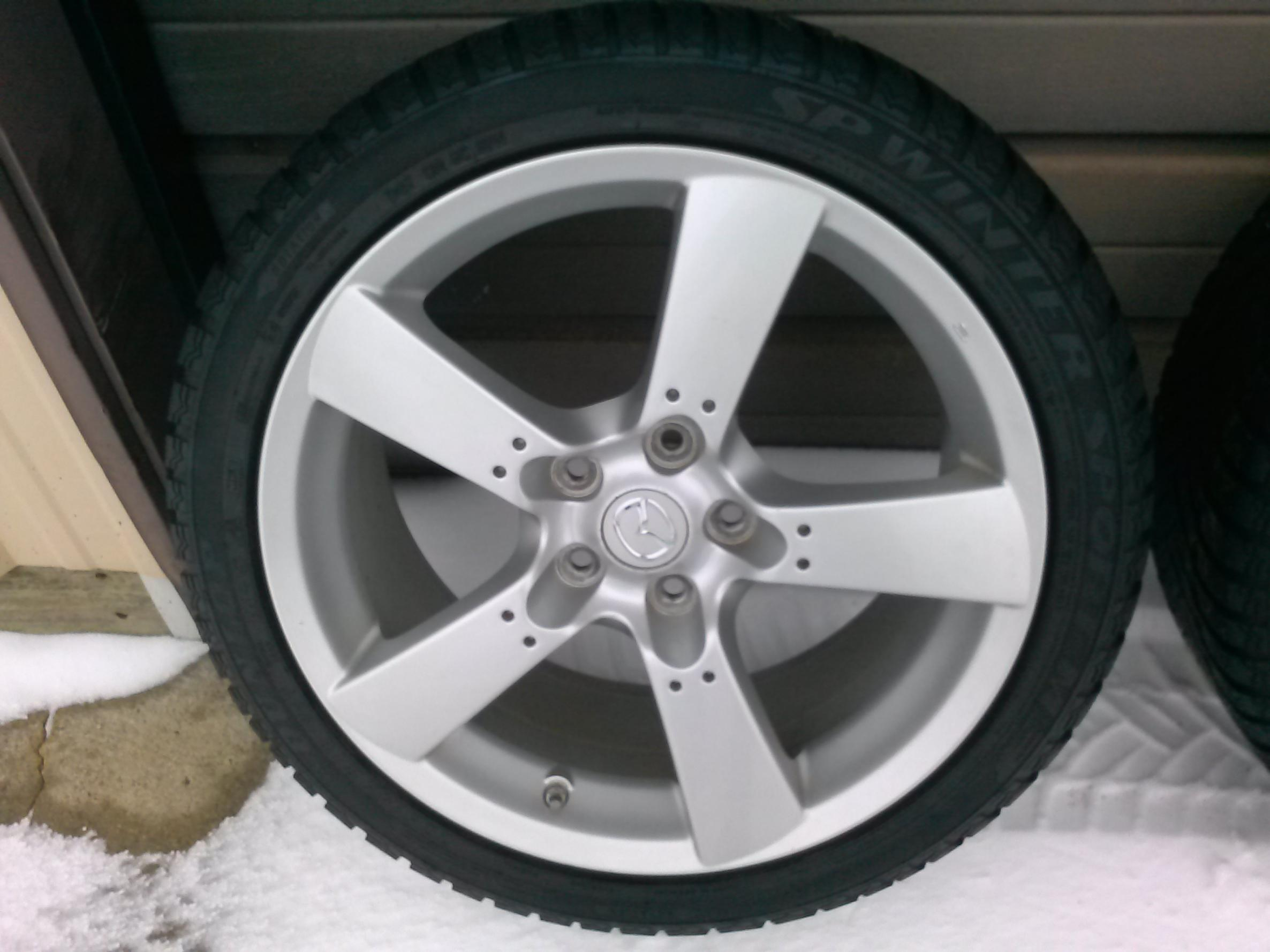 FS Stock RX8 Wheels WTMPS Amp Snow Tires