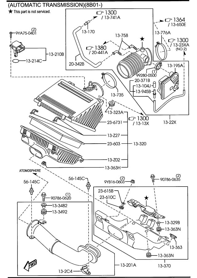 Service manual [Remove Air Intake Duct 1994 Mazda B Series