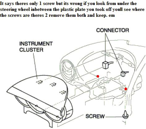 Service manual [How To Remove Instument Cluster 2003 Mazda