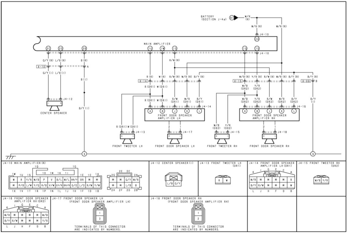 Bose Service Schematics Bose System Front Amps Signal Pinout Rx8club Com