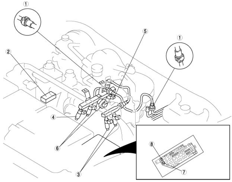 How do I find the fuel line(s) in the engine compartment