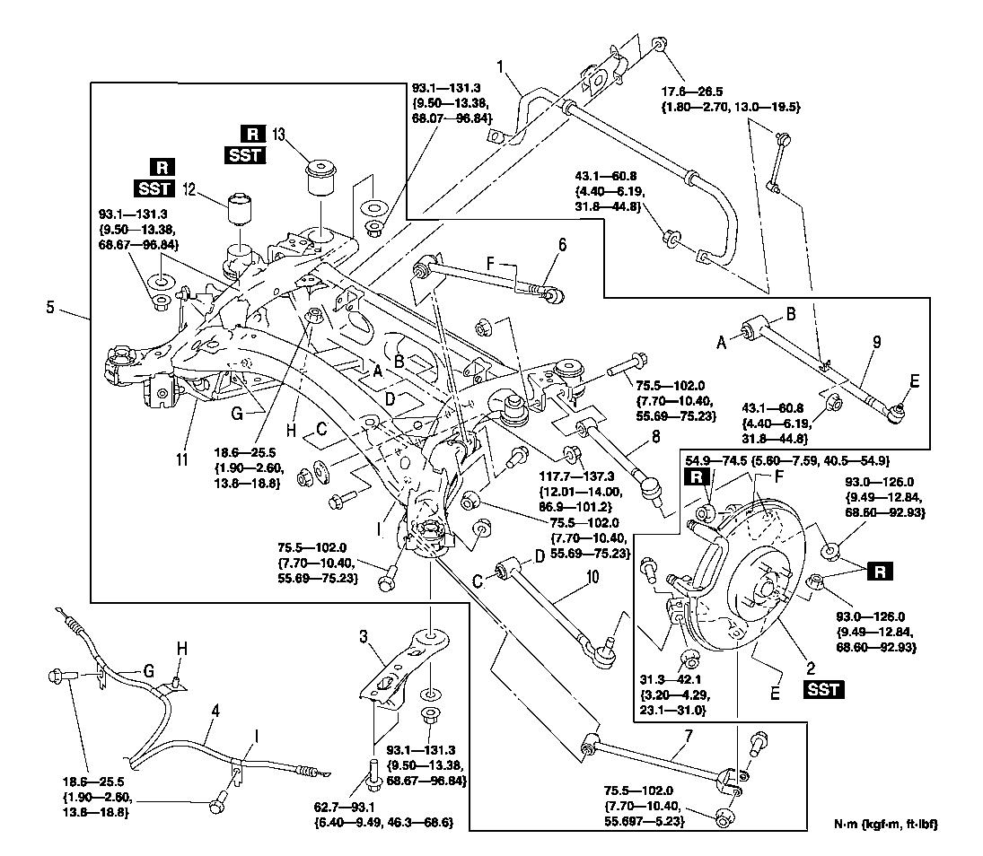 Steering Parts Diagram For 94 Mazda B3000. Mazda. Auto