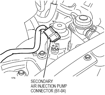 Need pics: (1) secondary air inject. pump conn. & (2