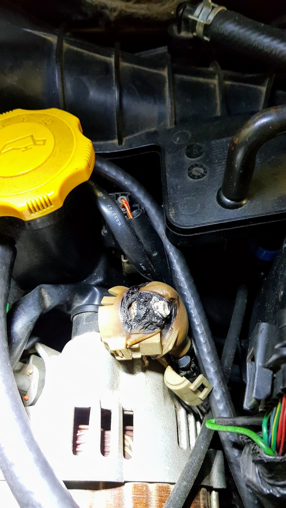 medium resolution of alternator plastic cover hose melted rx8club comautomotive wiring harness melted 17