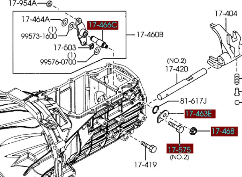 3-4 Gear Lever Pop Out Adjustment Manual for Transmission