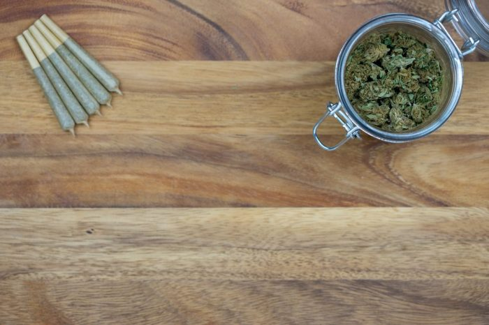 cannabis buds and joint for chronic pain, maybe with cbd