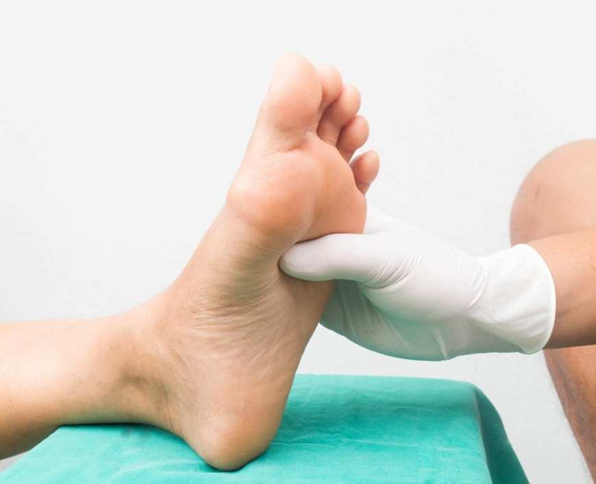 Diabetic Foot Care doc examining neuropathic foot