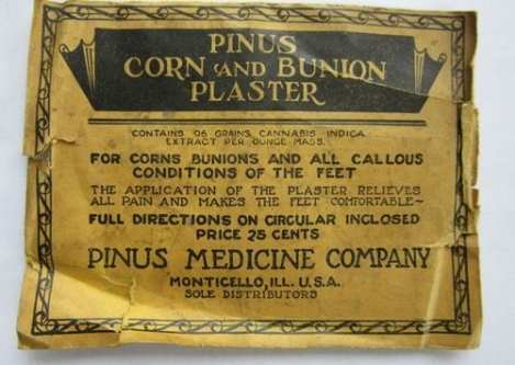 Indica plaster for corns and bunions vintage