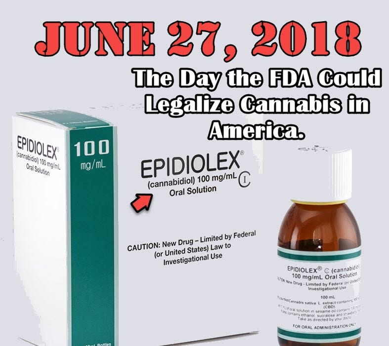 tongue in cheek FDA finally approves cannabis medicine with photo of Epidiolex