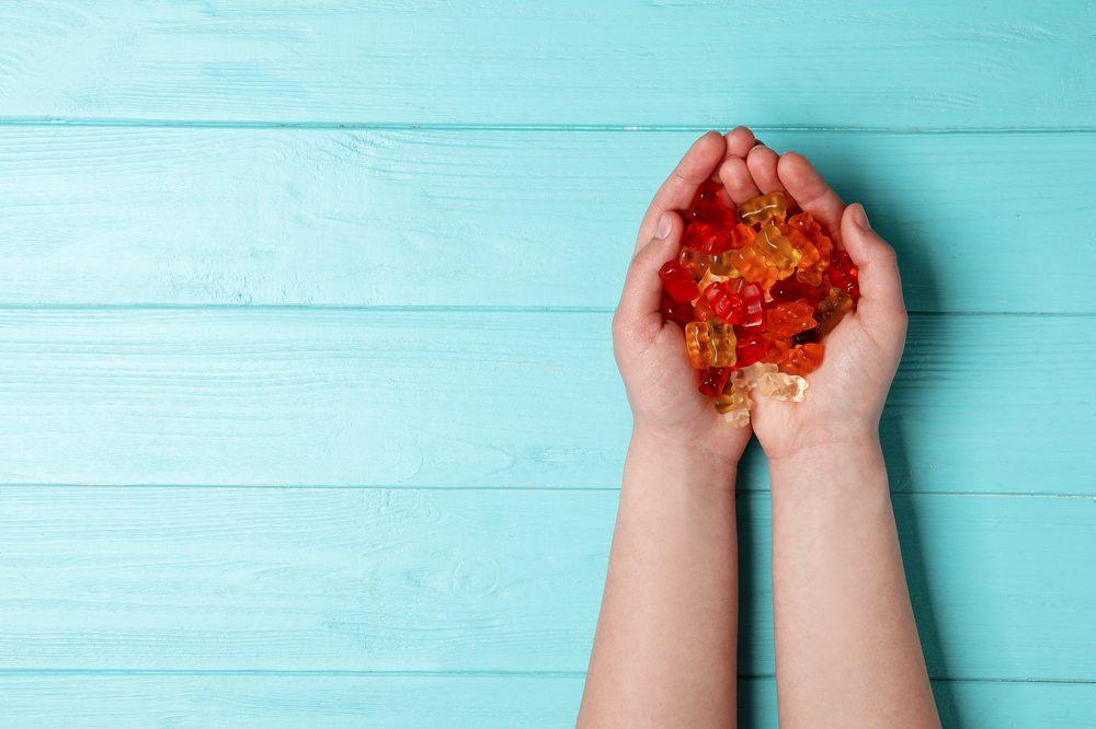 handfuls of gummy bears