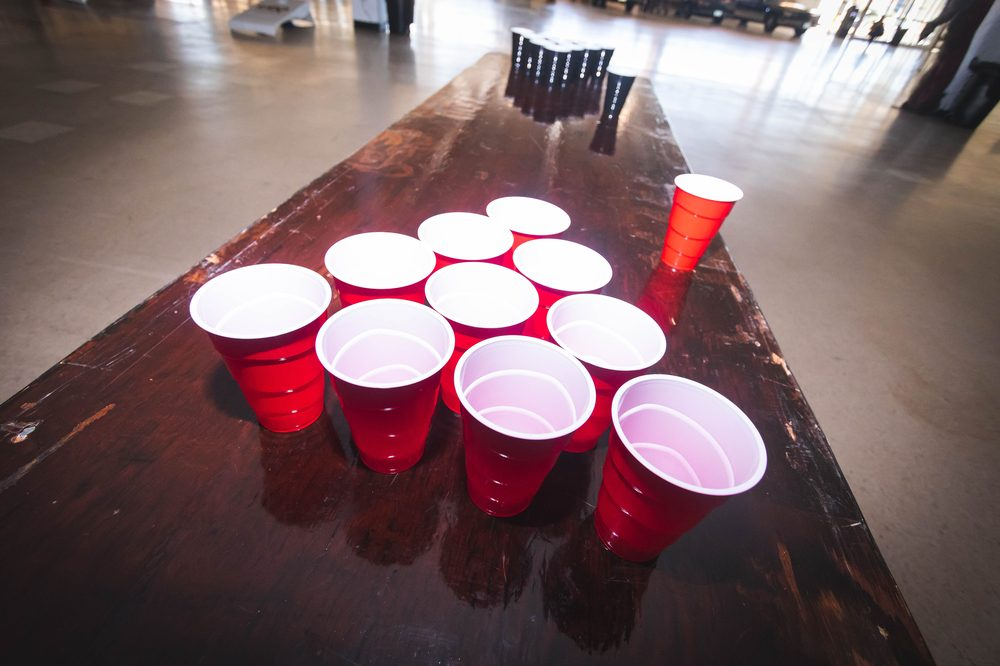 beer pong game table