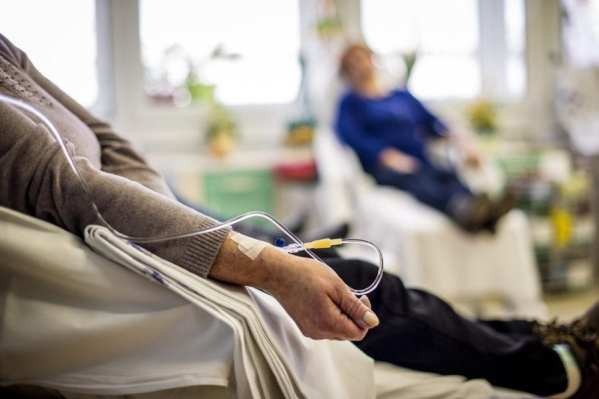 Cancer patient receiving chemotherapy