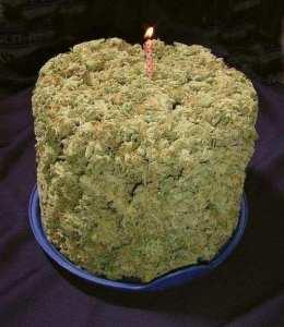 Pound of cannabis cake