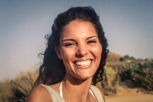 happy woman with lots of serotonin