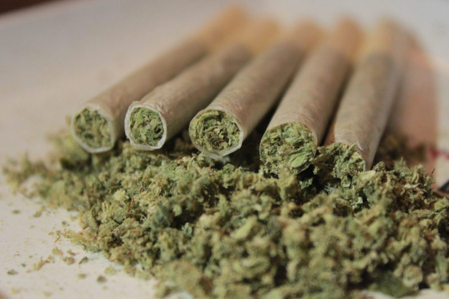 rolled cannabis joints