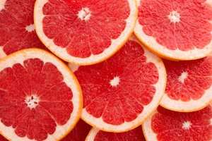 bunch of sliced grapefruit close up, it can mess with psych meds just like cbd