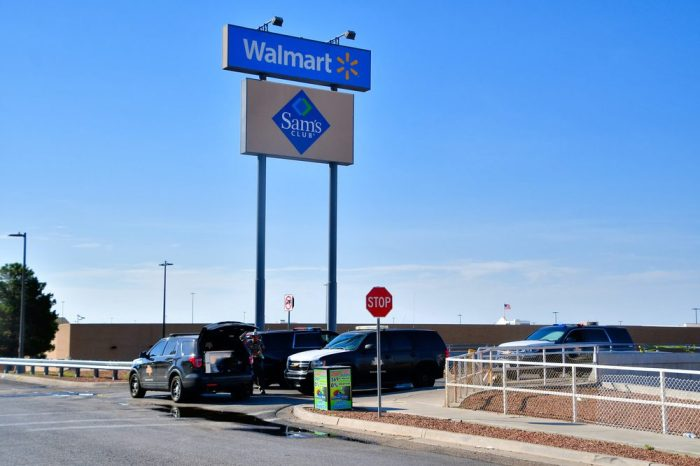 The El Paso Wal Mart where a recent Mass shooting took place