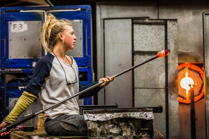 glass blowing like this is uniquely linked to the cannabis industry