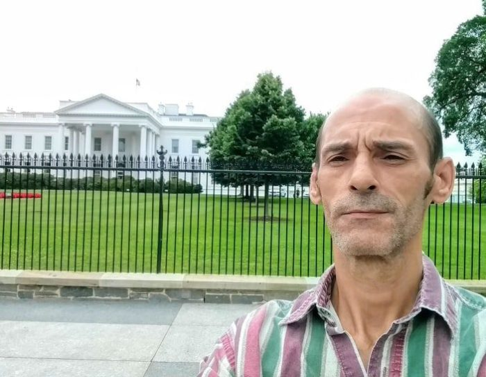 Michael Brooks, when his health was enough that he could travel to Washington to raise awareness.