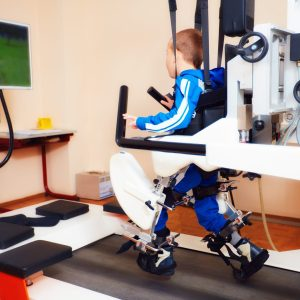spinal injury boy in rehab