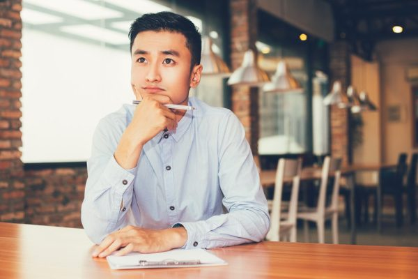 false memory effect could be what this young asian man is thinking about