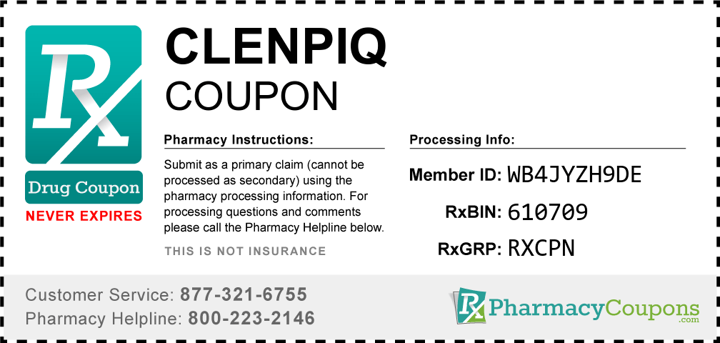 Clenpiq Coupon - Pharmacy Discounts Up To 90%