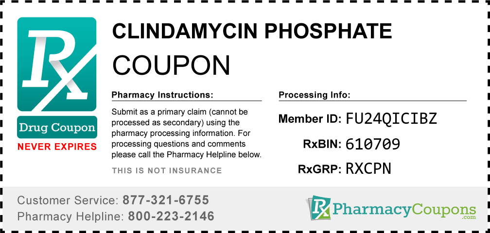 Clindamycin Phosphate Coupon - Pharmacy Discounts Up To 90%