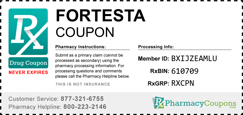 Fortesta Coupon 2020 - Save up to $250 on each ...