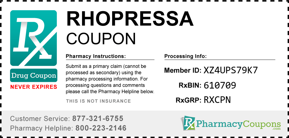 Rhopressa Coupon - Pharmacy Discounts Up To 80%