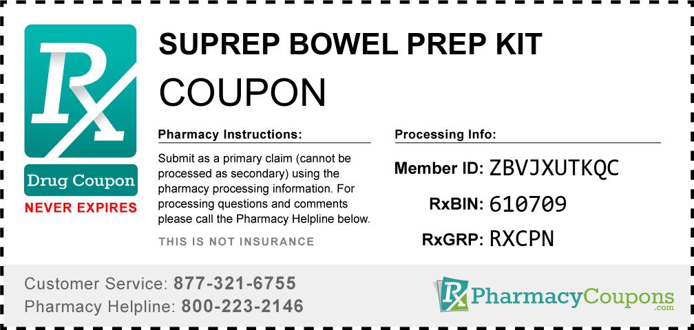 Suprep Bowel Prep Coupon 2020 - Save up to $15 ...
