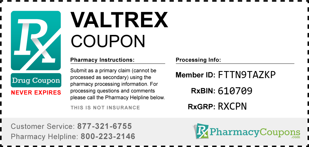Valtrex Coupon - Pharmacy Discounts Up To 80%