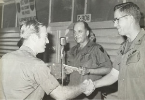 Ron Bone receives promotion to 1st Lieutenant in 1971. Click image to enlarge.