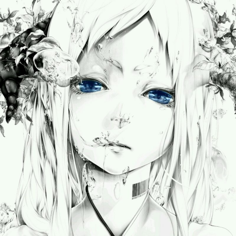 White and black graffiti on white wall. 10 Most Popular Anime Wallpaper Black And White FULL HD ...