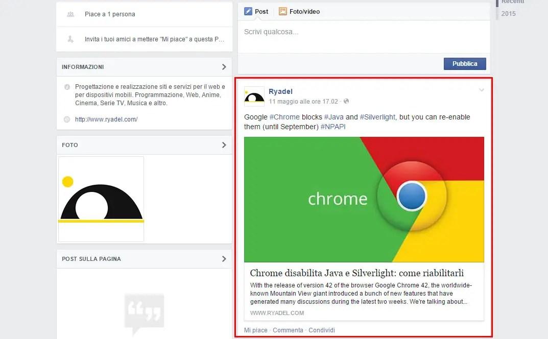 Fixing missing, brokwn or broken Facebook post image issues