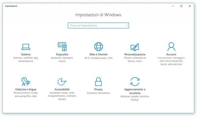 windows-impostazioni