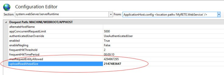ASP.NET e IIS - Errore (413) Request Entity Too Large e Maximum Request Length Exceeded - Come risolvere