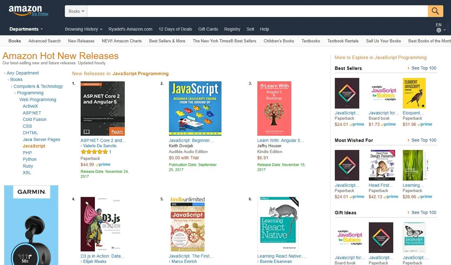 ASP NET Core 2 and Angular 5 - best-seller on Amazon com, uk