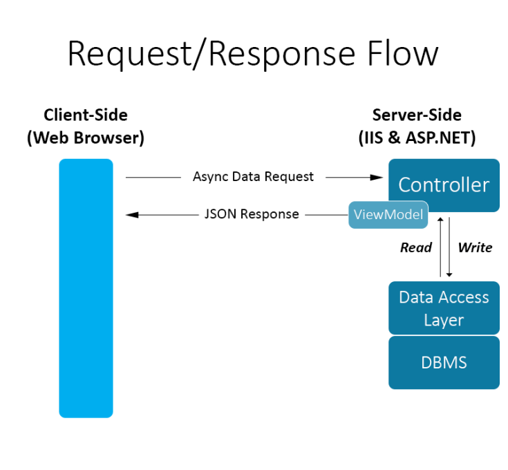 The HTTP Request-Response Data Flow in Native Web Applications
